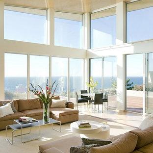 Foto de salón minimalista grande
