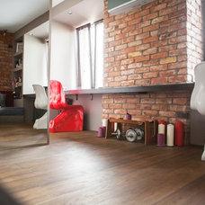 Industrial Living Room Однокомнатная студия по проекту студии Liturinsky&Leost с небольшим метражом