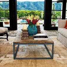 Mediterranean Living Room by Hunter Design