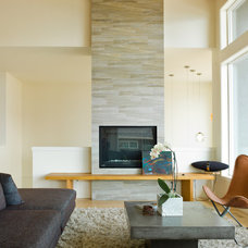 modern living room by Sunterra Custom Homes