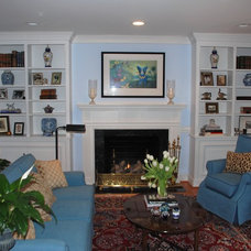 Traditional Living Room by Anne White Interiors, LLC