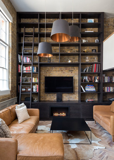 Industrial Living Room by Barnes Design