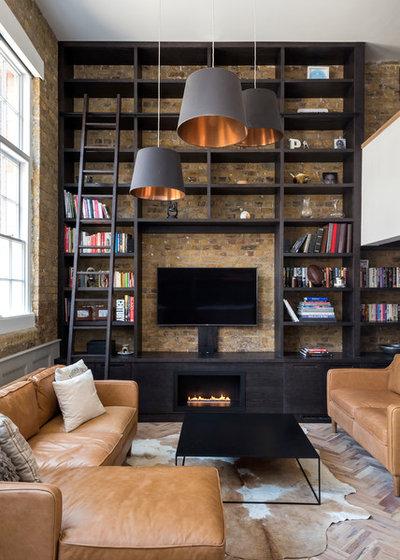 Industrial Living Room by Barnes Design