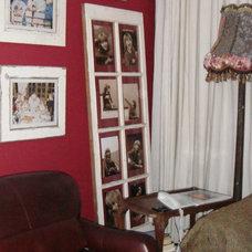 Eclectic Living Room Old Door Photo Holder
