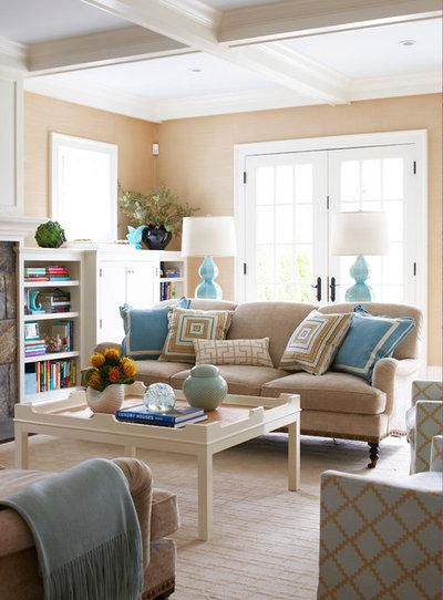 Coastal Living Room by MuseInteriors