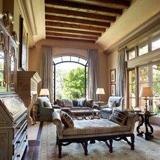 Traditional Living Room by Jane Antonacci Interior Design