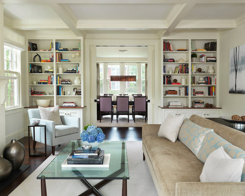 Design Ideas For Living Room interior design ideas living room is listed in our interior design ideas living room Example Of A Classic Enclosed Living Room Design In Boston With A Library