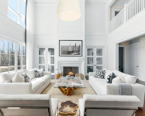 Beach style living room design ideas remodels photos for New york style living room ideas