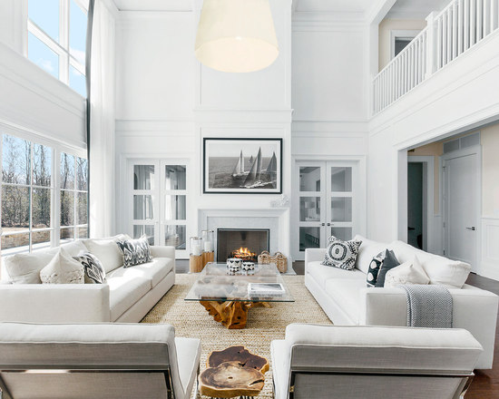 beach style living room design ideas, remodels & photos | houzz