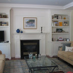 Built In Cabinets Traditional Living Room Toronto