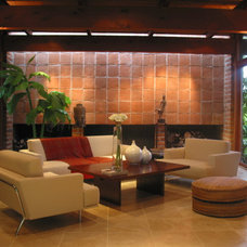 Asian Living Room by BAY WEST BUILDERS