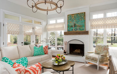 Room of the Day: A Preppy-Meets-Farmhouse Family Room