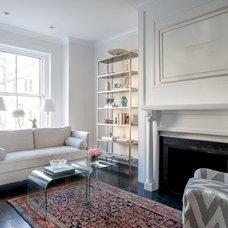 Transitional Living Room by Stuart Nordin Design