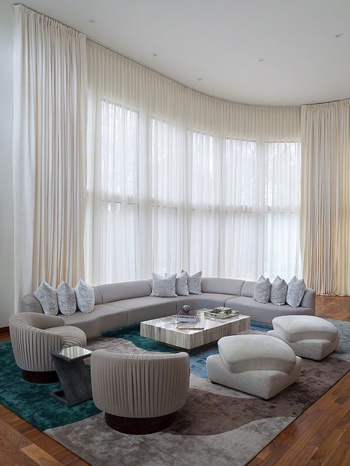 Living room curtain houzz for B q living room curtains