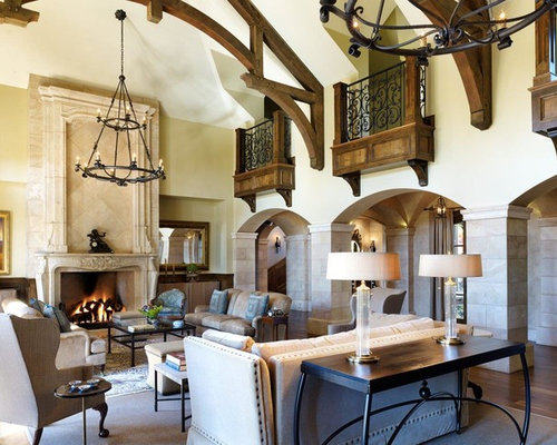 Inspiration For A Huge Mediterranean Enclosed And Formal Dark Wood Floor Living  Room Remodel In Denver Part 44