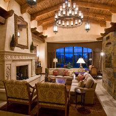 Mediterranean Living Room by Est Est, Inc.