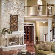 Living Room by John Hall Custom Homes