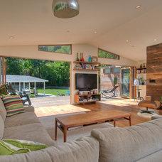 Midcentury Living Room by Foley Development