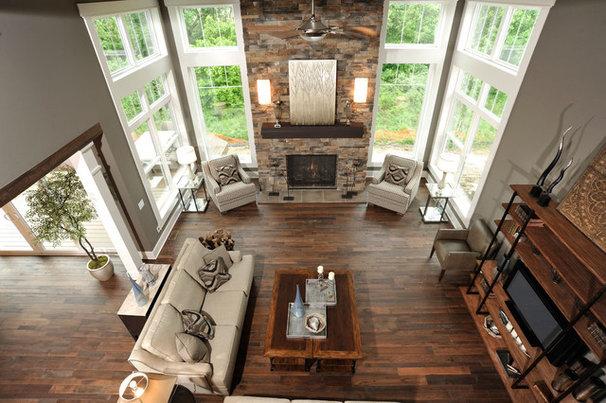 Modern Living Room by Weaver Custom Homes