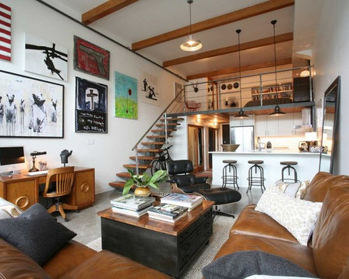 Loft apartment houzz for Significado d living room
