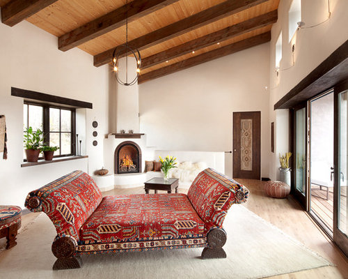 Southwestern Living Room Design Ideas, Remodels & Photos ...