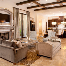Contemporary Living Room by P. Scinta Designs, LLC