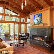 Contemporary Living Room by Gerber Berend Design Build, Inc.