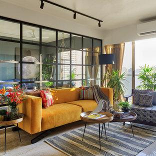 Asian Living Room Photo In Mumbai