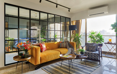 Houzz in India: Colorata Eleganza Cosmopolita a Mumbai