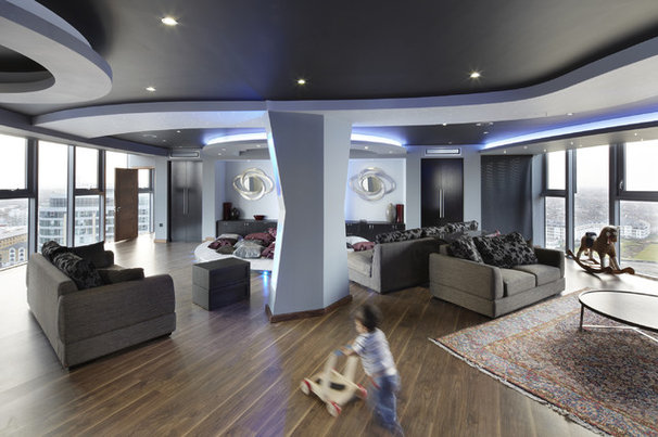Contemporary Living Room by One-World Design Architects