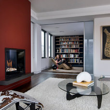 Modern Living Room by HMH Architecture + Interiors