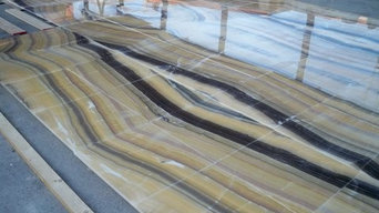 Onyx Flooring, Book matched, Yellow River
