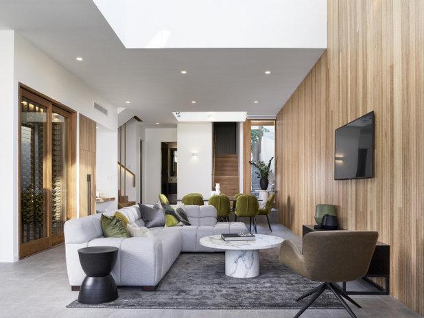 Modern Living Room by Joe Adsett Architects Pty Ltd