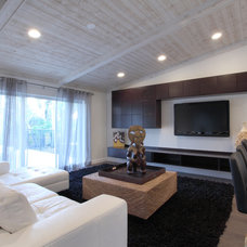 Contemporary Living Room by Shuky Conroyd at Boca Kitchens and Floors
