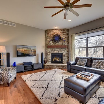 Open Concept Contemporary Craftsman Custom Home by Thorson Homes
