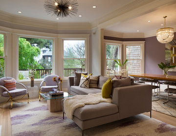 Open Concept Family Room and Dining Room