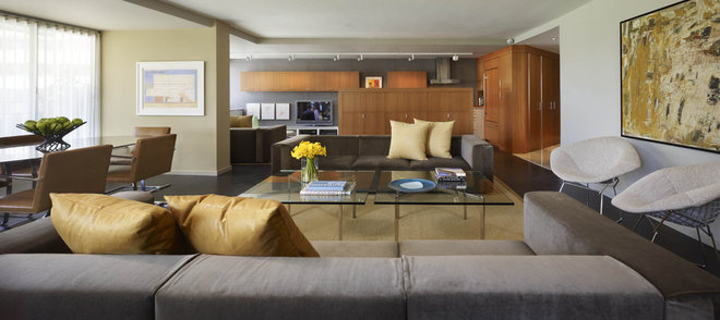 Contemporary Living Room by Studio Santalla, Inc