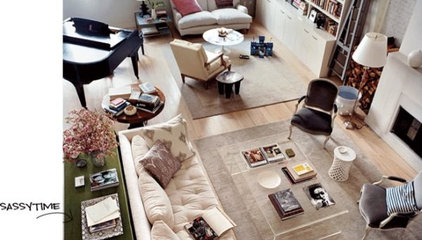 Eclectic Living Room open living space - dream living room