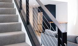 Open Loft Living Space w/ Metal Railing