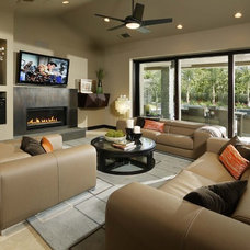 Contemporary Living Room by Debbie R. Gualco