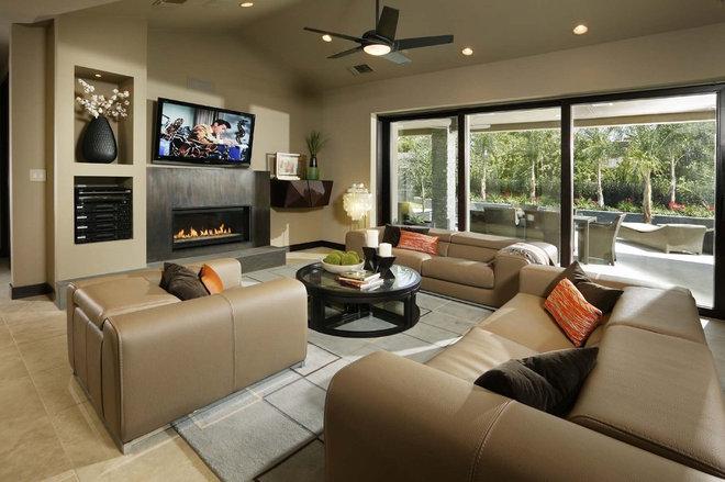 Contemporary Living Room by Debbie R. Gualco