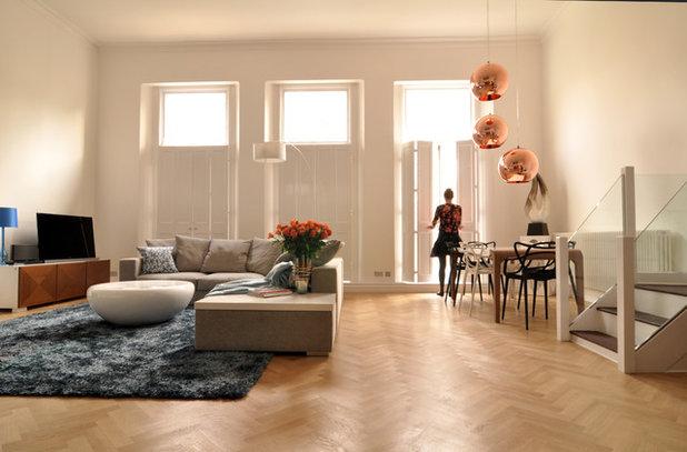Contemporary Vardagsrum by Kia Designs