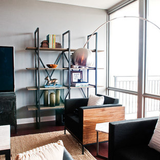 Inspiration for a modern living room remodel in St Louis