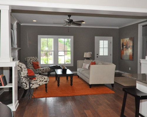 Orange and grey ideas home design ideas pictures remodel - Orange and grey living room ideas ...