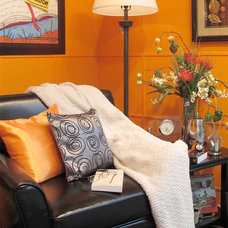 Eclectic Living Room by Andre Couture Coloriste Decorateur