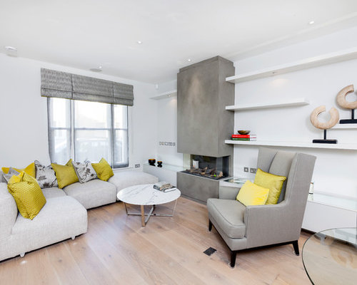 This Is An Example Of A Small Scandinavian Living Room In London