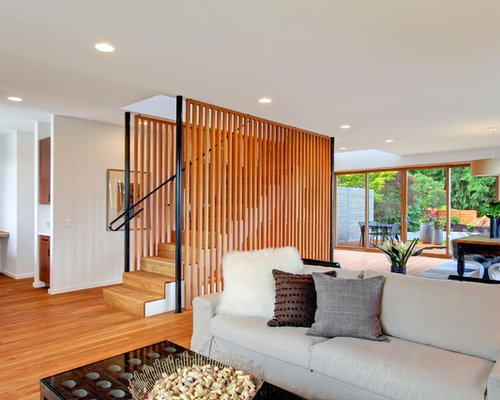 Wood Slat Wall Partition Houzz