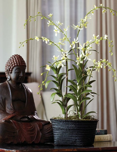Asian Living Room by Teters Floral Products