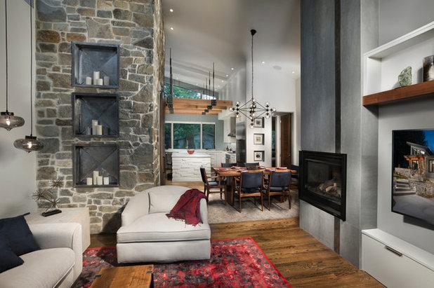 Contemporary Living Room by Living Stone Design + Build