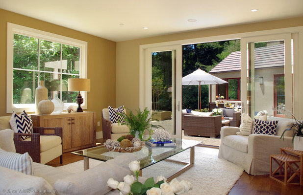 Beach Style Living Room by Lisa Benbow of LCB Interior Design